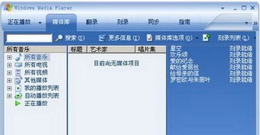 中国語Windows Media Player
