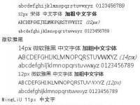 中国語web制作常用フォント