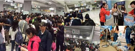 中国観光客は日本へ